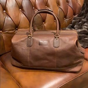 The Savile Row Company London leather bag NWT